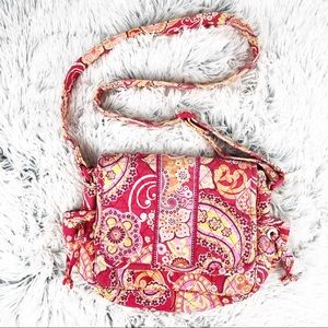 Vera Bradley Pink Paisley Multi Pocket Crossbody